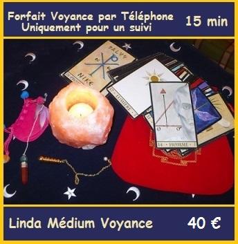 Forfait Voyance 15min avec Linda Médium pour un suivi